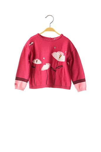 Pull col rond rose CATIMINI pour fille