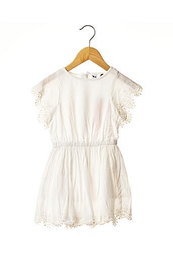 Robe mi-longue blanc 3 POMMES pour fille