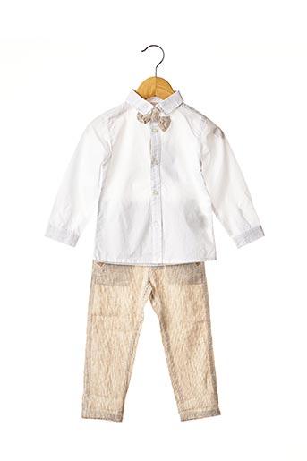 Top/pantalon beige 3 POMMES pour garçon