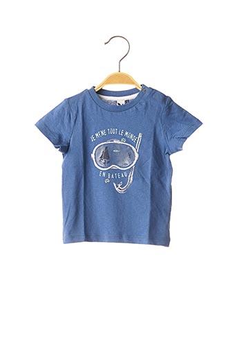 T-shirt manches courtes bleu 3 POMMES pour garçon