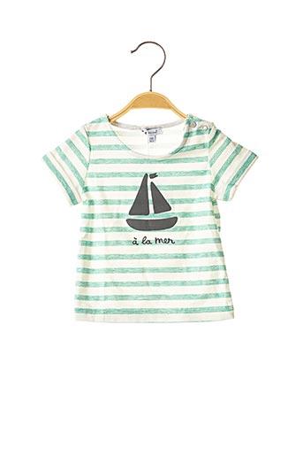 T-shirt manches courtes vert ABSORBA pour garçon