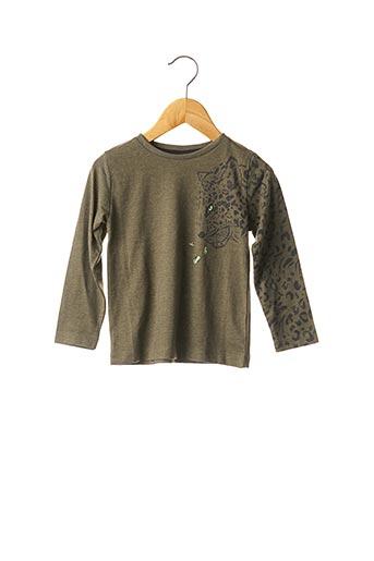 T-shirt manches longues vert 3 POMMES pour fille
