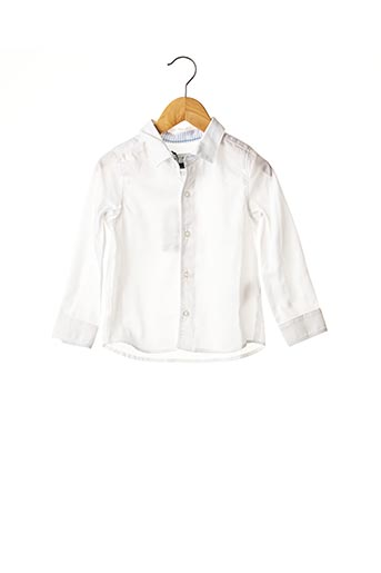 Chemise manches longues blanc JEAN BOURGET pour garçon