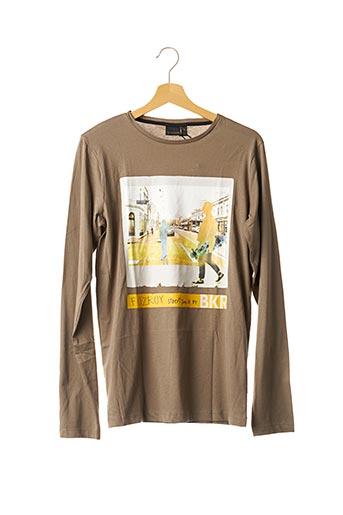 T-shirt manches longues vert BECKARO pour garçon