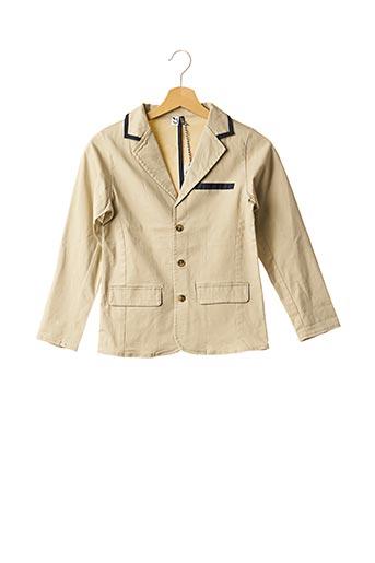 Veste chic / Blazer beige 3 POMMES pour garçon