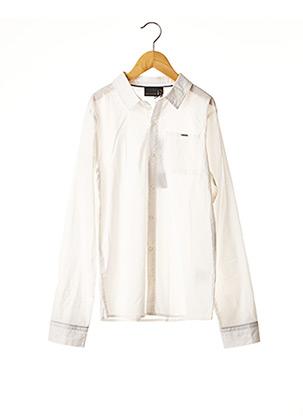 Chemise manches longues blanc BECKARO pour garçon