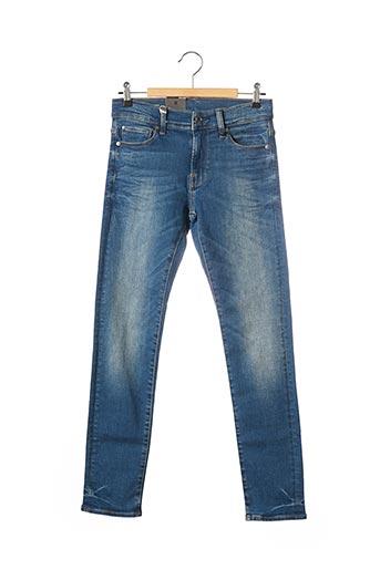 Jeans coupe slim bleu RAW UNCUT pour garçon