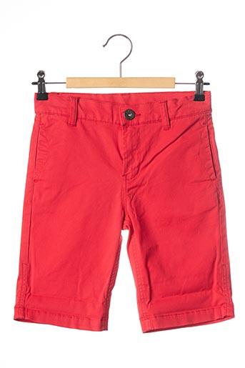 Short rouge 3 POMMES pour garçon