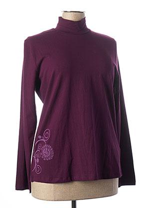 T-shirt manches longues violet COLINE pour femme