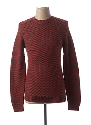 Pull col rond rouge NO EXCESS pour homme
