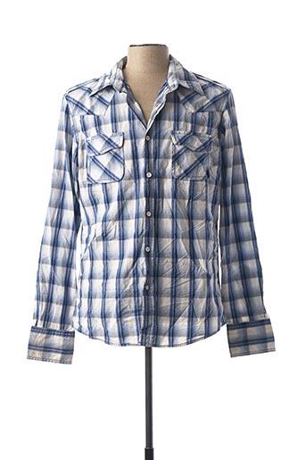 Chemise manches longues bleu MEXX pour homme