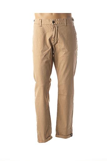 Pantalon casual beige GARCIA pour homme