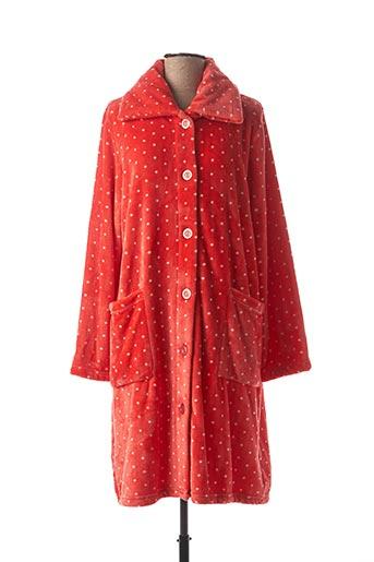 Robe de chambre rouge CANAT pour femme