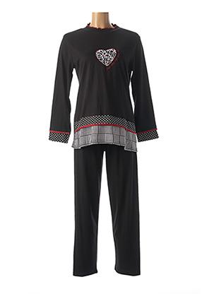 Pyjama noir ROSE POMME pour femme