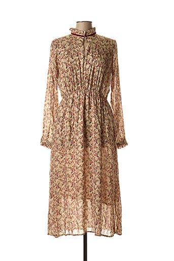 Robe longue beige ATELIER BOHÈME pour femme