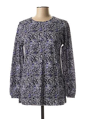 T-shirt manches longues bleu LA FEE MARABOUTEE pour femme