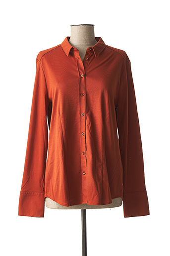 Chemisier manches longues orange DESOTO pour femme