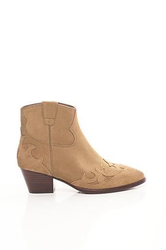 Bottines/Boots beige ASH pour femme