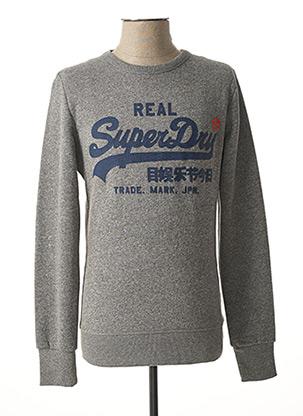Sweat-shirt gris SUPERDRY pour homme