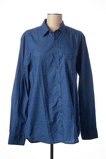 Chemise manches longues bleu CALAMAR pour homme