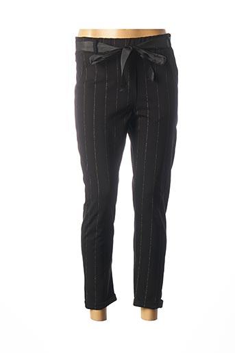 Pantalon 7/8 noir CARLA GIANNINI pour femme