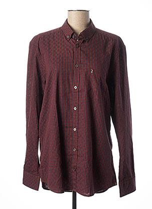 Chemise manches longues rouge CALAMAR pour homme