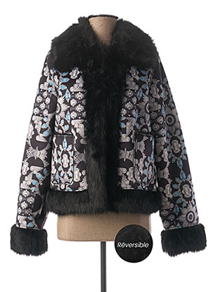 Manteau court noir GUESS pour femme