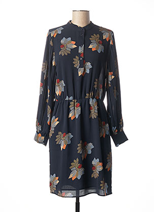 Robe mi-longue bleu YAYA pour femme