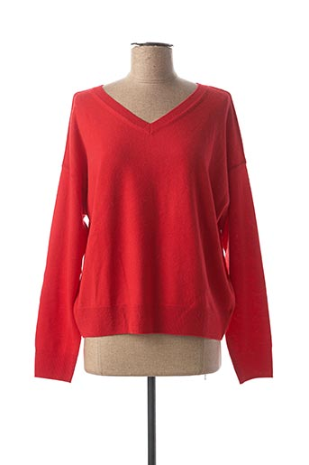 Pull col V rouge CLOSED pour femme