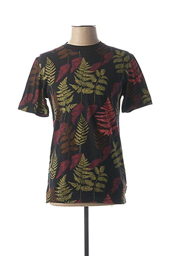 T-shirt manches courtes noir SCOTCH & SODA pour homme