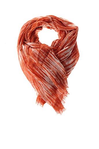 Foulard orange LA FEE MARABOUTEE pour femme