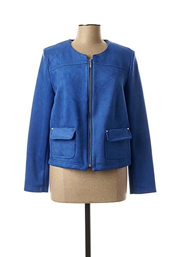 Veste casual bleu CHRISTINE LAURE pour femme