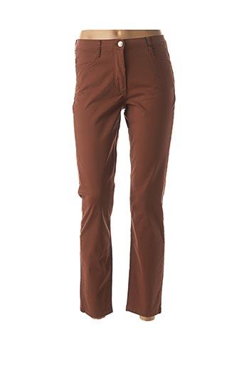 Pantalon 7/8 marron BETTY BARCLAY pour femme