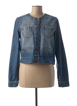 Veste en jean bleu LA FEE MARABOUTEE pour femme