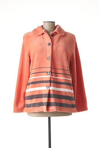 Pyjama orange EGATEX pour femme