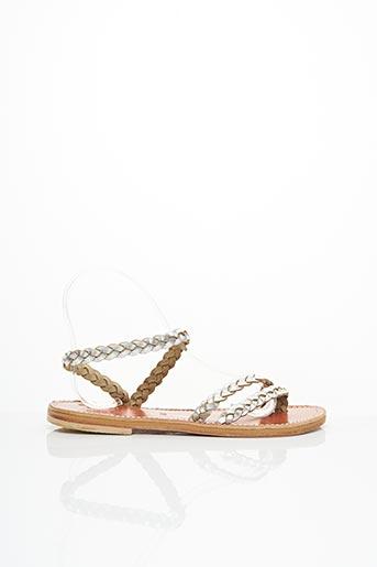 Sandales/Nu pieds gris DIEGA pour femme