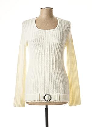 Pull col carré beige MERI & ESCA pour femme