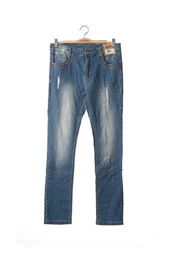 Jeans coupe droite bleu BECKARO pour enfant