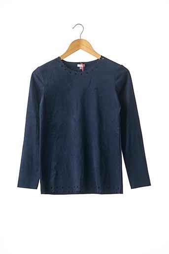 T-shirt manches longues bleu CONFETTI pour fille