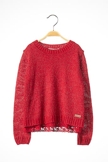 Pull col rond rouge BOBOLI pour fille