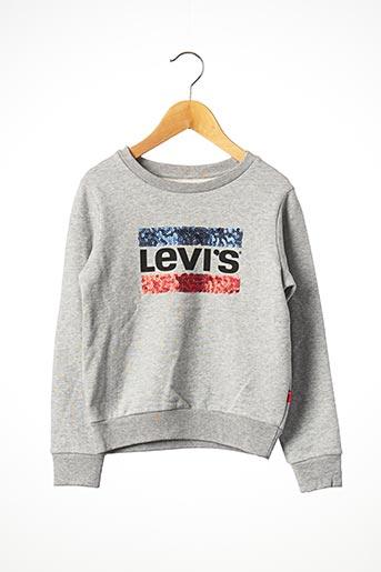 Sweat-shirt gris LEVIS pour fille