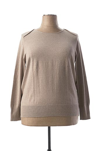 Pull col rond beige BETTY BARCLAY pour femme