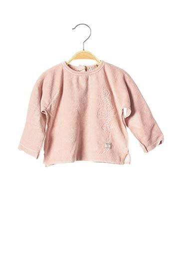 T-shirt manches longues rose ELIANE ET LENA pour fille