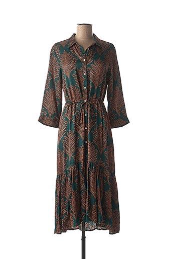 Robe mi-longue vert ESQUALO pour femme