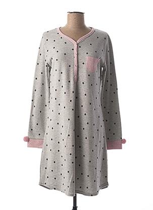 Chemise de nuit gris MASSANA pour femme