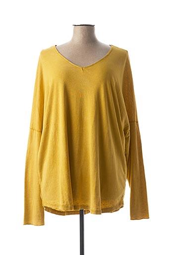 T-shirt manches longues jaune C'MELODIE pour femme