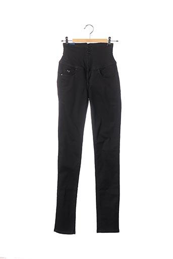 Pantalon casual noir DIVA pour femme