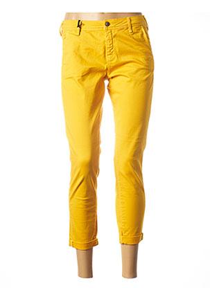 Pantalon 7/8 jaune TEDDY SMITH pour femme