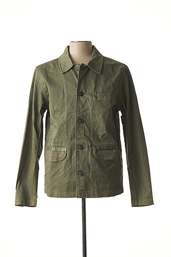 Veste casual vert SELECTED pour homme