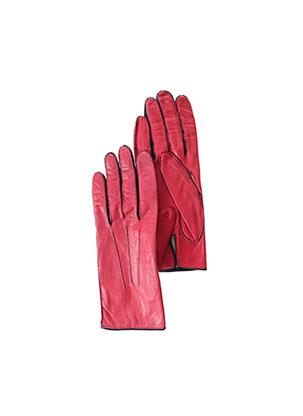Gants rouge GEORGES MORAND pour femme